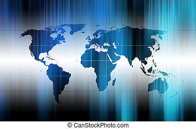 mundo, fundo, mapa