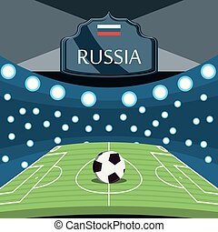 mundo, futebol, desenho, rússia, copo