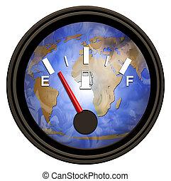 mundo, gasolina, medida