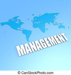 mundo, gerência, mapa