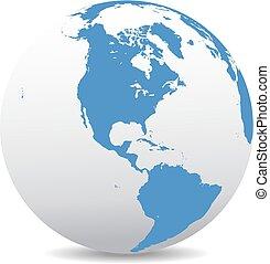 mundo, global, américa