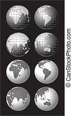 mundo, globos