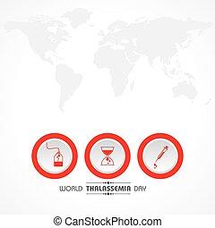 mundo, hemoglobina, maio, ilustração, herdado, caracterizado...