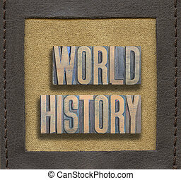 mundo, historia, encuadrado