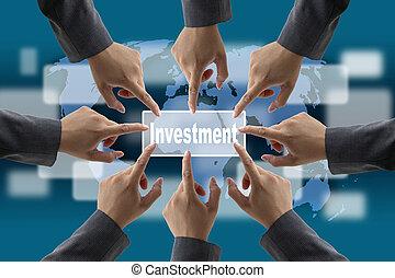mundo, investimento, negócio