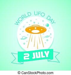 mundo, julho, 2, dia, ufo
