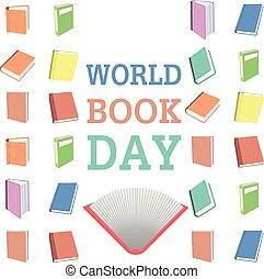 mundo, livro, dia, fundo, feliz