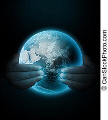 mundo, mãos