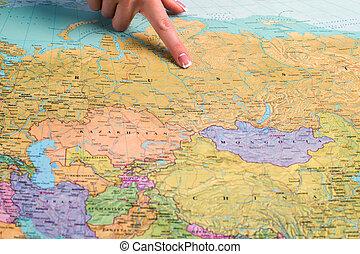 mundo, map., rússia