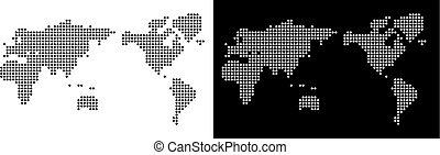 mundo, mapa pixel