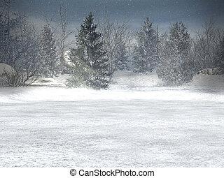 mundo maravilloso, invierno, navidad