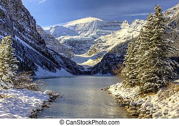 mundo maravilloso, louise, invierno, lago