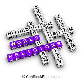 mundo, mayor, religiones