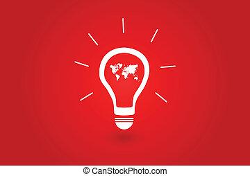 mundo, melhor, idéia, conceito