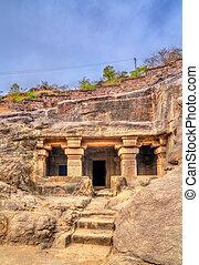 mundo, não, 34., caverna, índia, local, maharashtra, ellora, herança, unesco