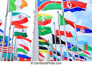 mundo, nacional, bandeiras