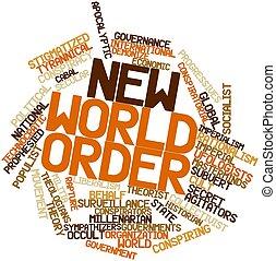 mundo, palabra, orden, nube, nuevo