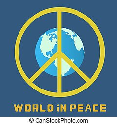 mundo, peace., globo