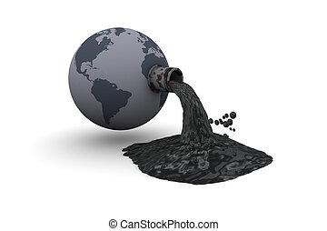mundo, poluído