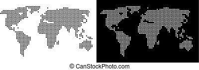 mundo, ponto, mapa