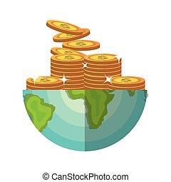 mundo, poupança, economia global