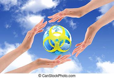 mundo, proteger, radioactive.