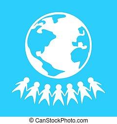 mundo, símbolo, paz