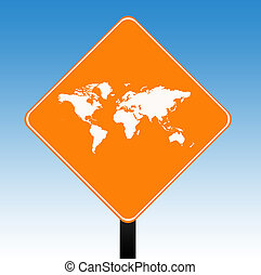 mundo, sinal estrada