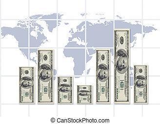 mundo, taxa, câmbio