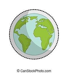 mundo, tierra de planeta, icono