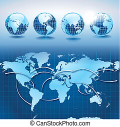 mundo, transporte, y, logística