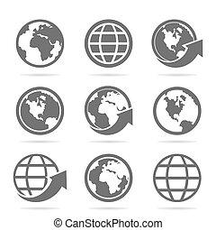 mundo, un, icono