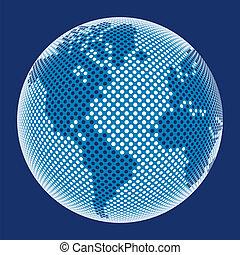mundo, vector., digital