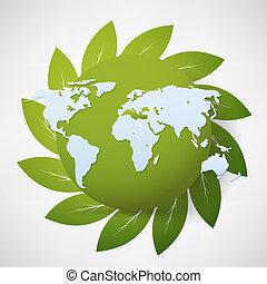 mundo,  vector,  natural
