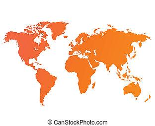 mundo, vetorial, mapa