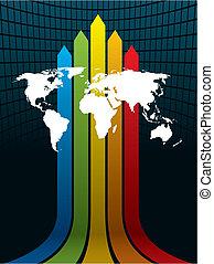 mundo, y, arco irirs