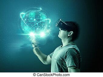 mundos, realidad, virtual
