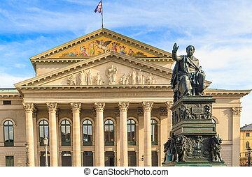 munich, ópera, bávaro, /, estado, bayerische, alemania, ...