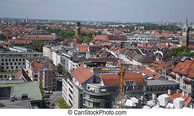 munich, au-dessus, vue, panoramique