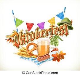 munich, cerveza, fiesta, oktoberfest, el, vector, lata, también, ser, utilizado, por, cualesquiera, cerveza, manufacturers.