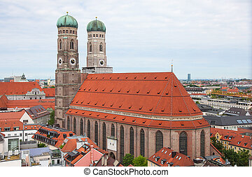 Munich - Famous Cathedral of Saint Mary - Liebfrauenkirche...