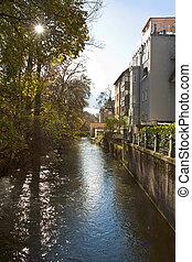 Munich, Germany - Houses in center city near Englischer Garten