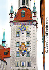 Munich, Germany - the fairytale tower of the old city hall
