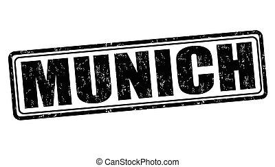 Munich grunge stamp