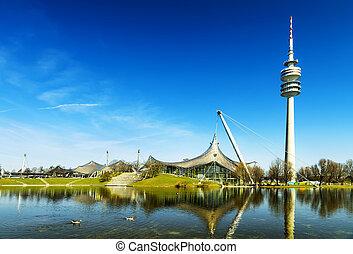 munich, olímpico, olympiapark, estadio