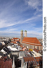 Munich panorama with the Frauenkirche