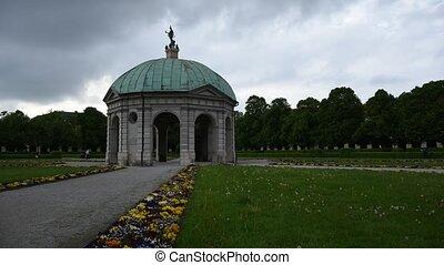 Munich Residence Dianatempel (Diana`s Temple)  at springtime