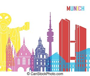 Munich skyline pop