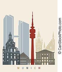 Munich skyline poster