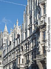 Munich Town Hall in Gothic Style on Marienplatz